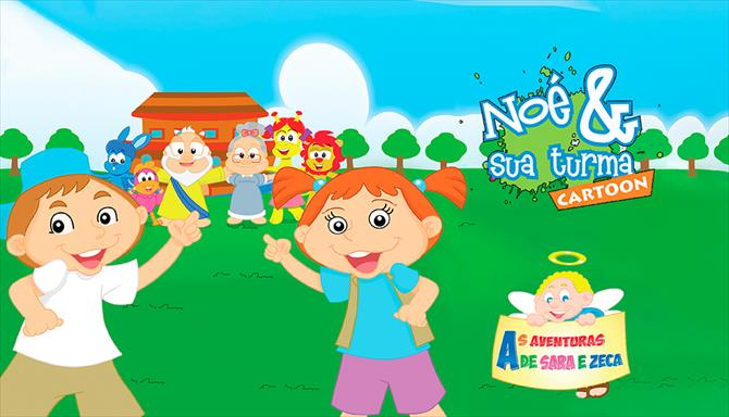 Noé e sua turma Cartoon - As Aventuras de Sara e Zeca