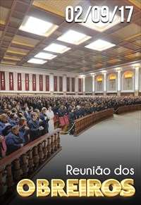 Reunião de obreiros - 02/09/17